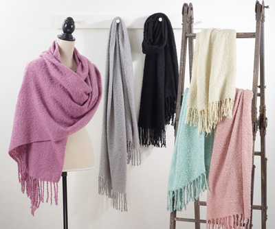 S466 solid tassle scarf