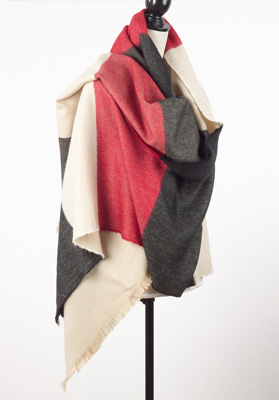 S500 solid stripe scarf