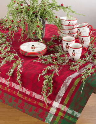 2108 christmas tree plaid tablecloth