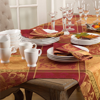 6702 jacquard design thanksgiving t/c