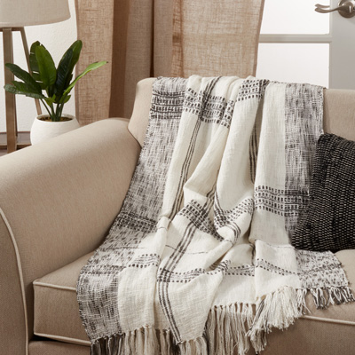 TH109 Plaid Throw