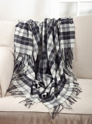 TH014 plaid throw