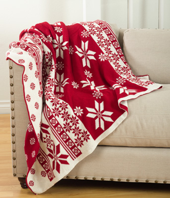TH028 knitted christmas design throw