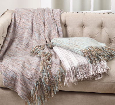 TH125 faux mohair throw
