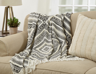 TH181 embellished diamond throw