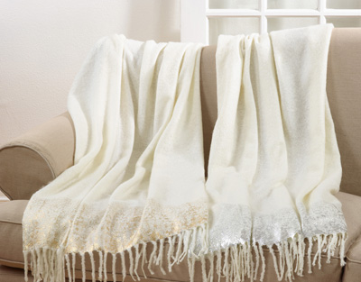TH193 foil print mohair throw
