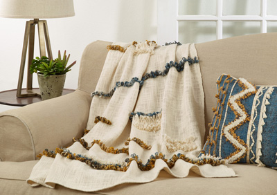 TH206 Embroidered Throw