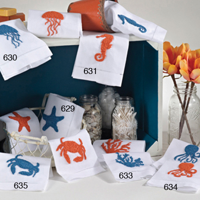 634 sea shore guest or bar towels