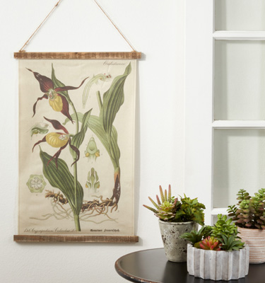 WA359 Botanical Canvas Wall Hanging