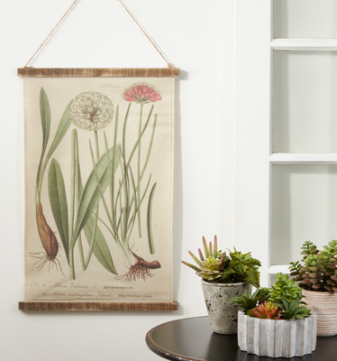 WA360 Botanical Canvas Wall Hanging