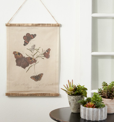 WA362 Butterfly Canvas Wall Hanging