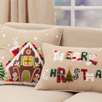 1171 Gingerbread House Pillow