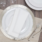 1187 Embroidered Border Napkin