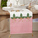 1328 Buffalo Plaid Holly Runner