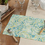 150 Distressed Paisley Placemat