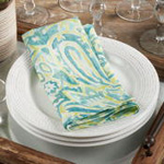 150 Distressed Paisley Napkin