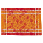 1565 pumpkin and leaf jacquard placemat