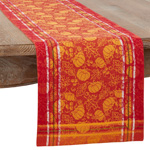 1565 Pumpkin And Leaf Jacquard Runner