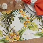 1628 Tropical Flower Hemstitch Placemat