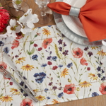 1629 Floral Hemstitch Placemat