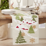 1706 Embroidered Christmas Mountain Runner