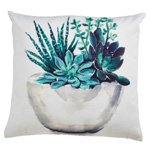 1807 potted succulent outdoor pillow
