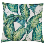 1838 tropical leaves outdoor pillow
