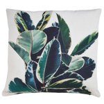 1843 tropical leaves outdoor pillow