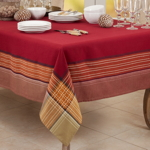 1873 Plaid Border Tablecloth