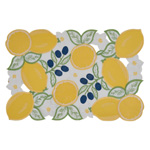 2015 Cutwork & Embroidered Lemon Placemat