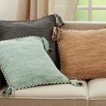 2032 Braided Border Tassel Pillow