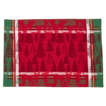 2108 christmas tree plaid placemat