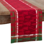 2108 Christmas Tree Plaid Runner