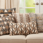 2180 Embroidered Block Print Pillow
