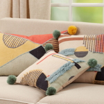 2190 Geometric Embroidered Pillow