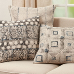 2193 Embroidered Block Print Pillow