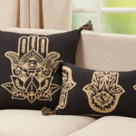 2196 Hamsa Hand Embroidered Pillow