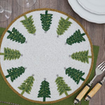 2418 Beaded Christmas Trees Placemat