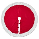 2444 faux fur trim tree skirt Closeout