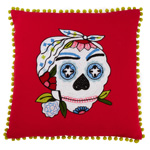3146 sugar skull pillow