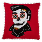 3147 sugar skull pillow