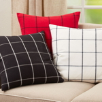 389P Plaid Pillow