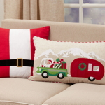 4173 Santa Truck + Trailer Pillow