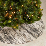 426 Printed Wood Tree Skirt