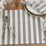 432 Striped Tassel Placemat