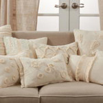 4430 Fringe Lace And Pom Pom Applique Pillow