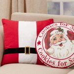 445 Santa Belt Pillow