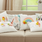 4506 Rainbow Pom Pom Pillow