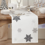 4515 Embroidered Snowflakes Runner