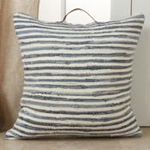 4873 Striped Denim Chindi Pillow